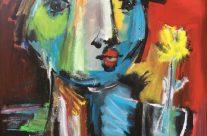 'timide'  (100 x 100 cm)